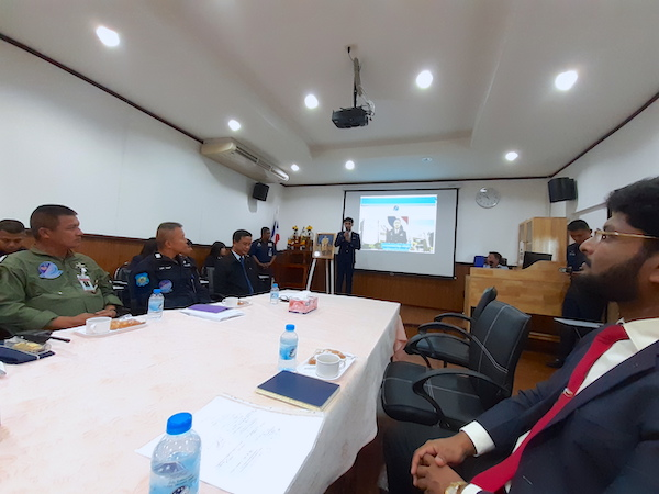 Briefing about the RTAF Flying Training School by the Chief Officer in the conference room