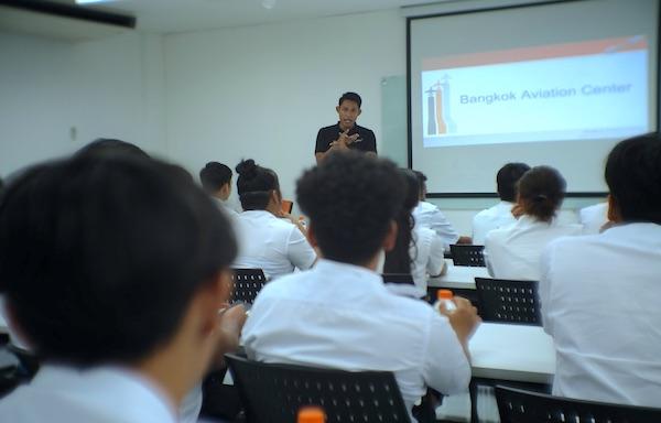 Mr. Por, Pilot instructor gave his welcome speech